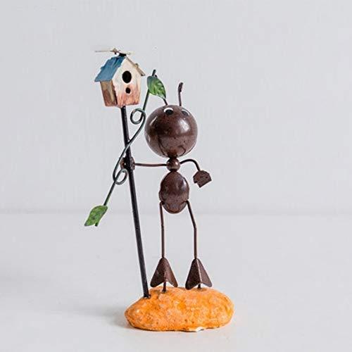hacxiaoming Statue Kreativer Netter Moderner Metallkunsthandwerk Hauptdekorationwohnzimmerbürodekoration Moderner Stil Und Kreative Dekorative Elemente Briefkasten Kleine Ameisen
