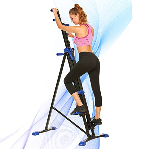 ANCHEER Climber Indoor Vertical Climber & Folding Climber Exercise Machine for Home Gym Fitness, Versa Compact Rock Climbing Machine with Adjustable Height & LCD Display