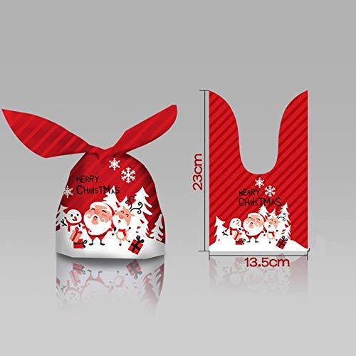 Aober 10 stks Santa Gift Bag Candy Bag Sneeuwvlok Crisp Tasje Vrolijk Kerstfeest Decoraties voor Huis Nieuwjaar, oor…