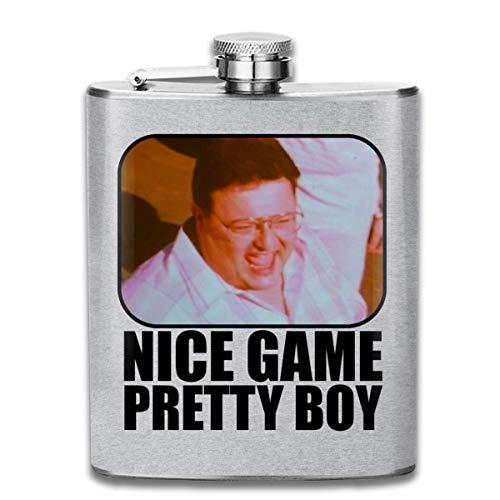 fdgtr Fiaschetta Seinfeld Nice Game Pretty Boy Print Hip Flask Pocket Bottle Flagon 7oz Portable Stainless Steel Flagon