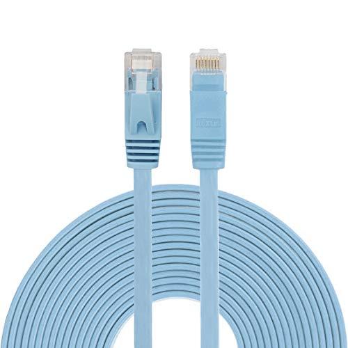 LYYCEU Patch Lead RJ45 (Negro), Cable DE LAN ETHERNET comprimido Ultra Delgado de 10M CAT6 (Color : Blue)