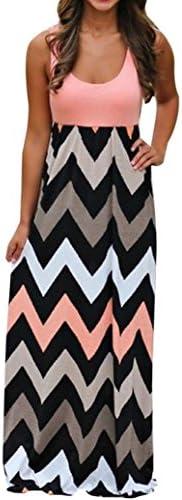 Women Dress 2018 New Sexy Fashion Striped Long Boho Dress Lady Beach Summer Sundress Maxi Plus product image