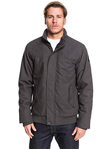 Quiksilver Herren Brooks Full Zip-Wasserabweisende Jacke für Männer, Tarmac, XS