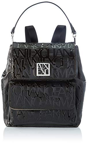 Armani ExchangePatent All over BackpackDonnaPatent BlackOne Size