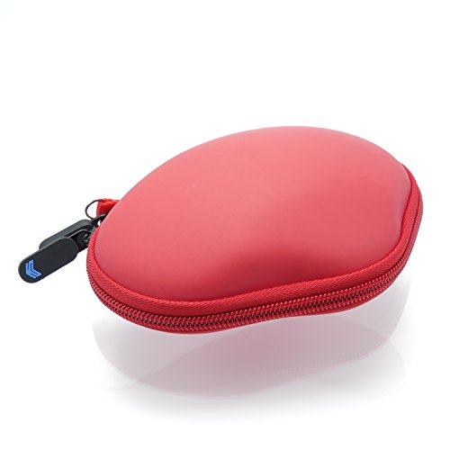 SABER Compact Travel Hard Padded Protective Case for Logitech G602/G603/G604 Wireless Gaming Mouse (RED)