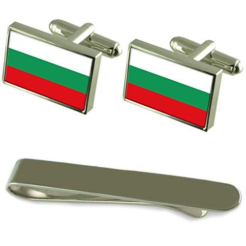 Select Gifts La Bulgaria Bandiera Argento gemelli Clip incisi Set regalo