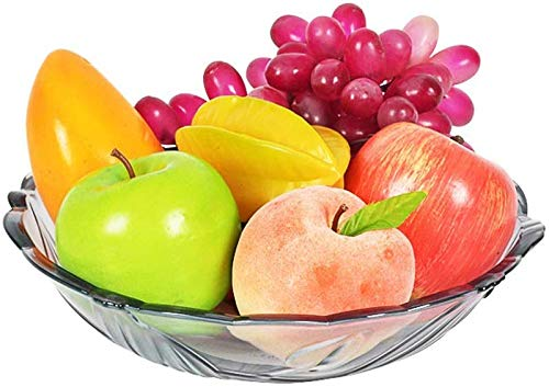 QTQHOME Plateaufruits Bolfruits,Bols Dessert européens Salade Bols Creative Assiettefruits secs Assiettebonbons Salon Cuisine Art Décoration Bols Fruits (Couleur:Gris,Taille:27x27x9.5cm)
