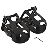 CyclingDeal Bike Bicycle Toe Clips Cage ONLY - Peloton Spin Bike & Peloton Bike+ Pedal Adapters - Convert Look Delta Pedals to Dual Function Pedals - Ride with Sneakers