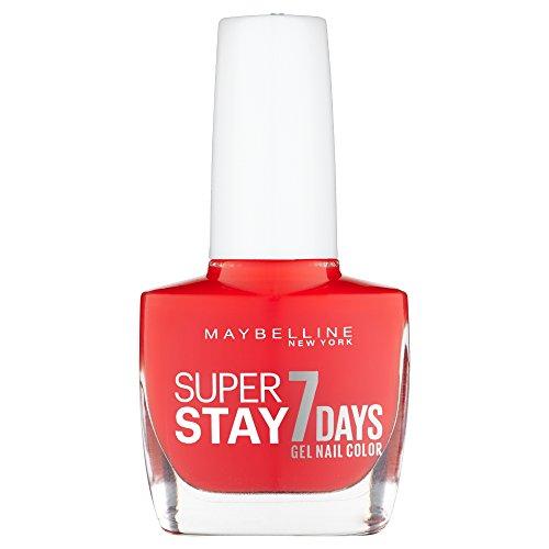 Maybelline New York SuperStay 7 Days 493 Blood Orange Rojo esmalte de uñas -  Esmaltes de uñas (Rojo,  Blood Orange,  Botella,  1 pieza(s),  20 mm,  78 mm)