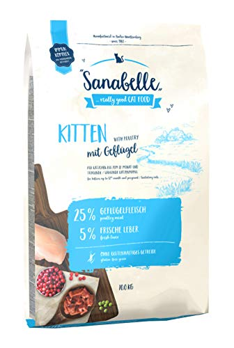 Sanabelle Kitten | Katzentrockenfutter für heranwachsende & tragende / säugende Katzen, 1er Pack (1 x 10000 g)