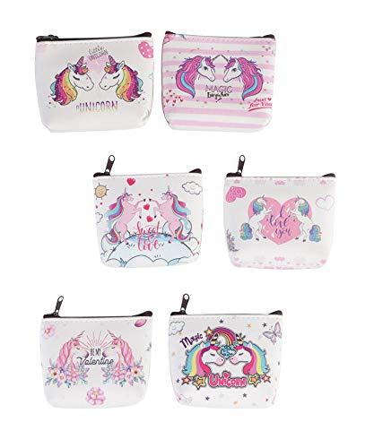 Lote 12 Monederos Unicornios.Originales y divertidos monederos con diseño de unicornios para bodas, bautizos, comuniones.