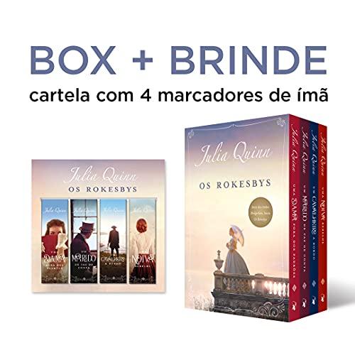 Box Os Rokesbys: A Origem Dos Bridgertons + Cartela Com 4 Marcadores De Imã