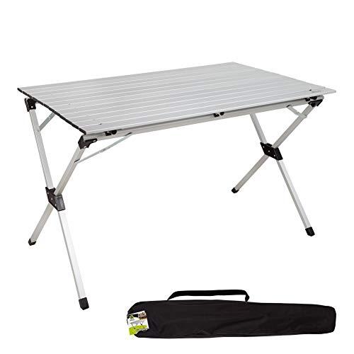 Aktive 52841 - Tavolo pieghevole in alluminio per campeggio, 110 x 70 x 70 cm