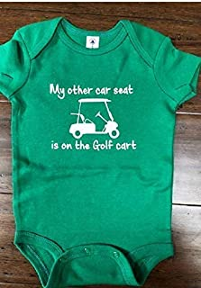 My other car seat is on the golf cart golfing baby bodysuit future golfer one piece