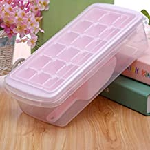 PP With Lid With Ice Shovel Seal 18 Grid Ice Cube Ice Box Pink