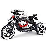 XLAHD Motocicletta elettrica per Bambini Motociclette per Bambini Veicoli elettrici per Bambini Tricicli Motociclette Biciclette per Esercizi per Bambini Macchinine, Bianco