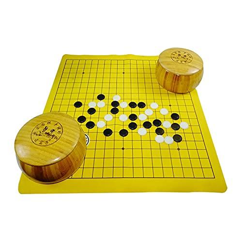 Cloud kiln Son go, Tarro de Madera go, enseñanza go go Set, Juego de Estrategia Chino clásico go ajedrez, Juego de Mesa de Viaje, ajedrez IR Listo para enseñar a los niños a Comenzar Adultos