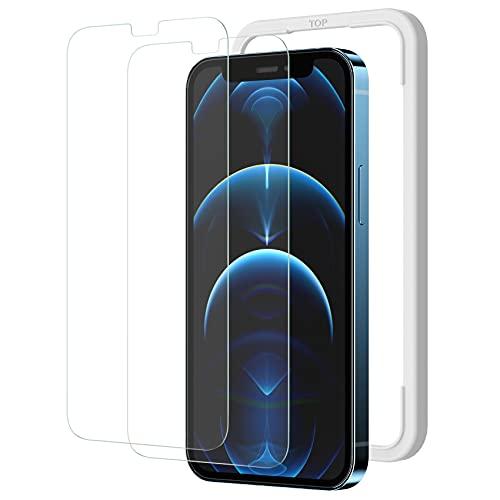 NIMASO ガラスフィルム iPhone12Pro Max / iPhone13ProMax 用 フィルム 強化 ガラス 保護 iPhone 13 Pro Max 対応 2枚セット ガイド枠付き NSP20I111