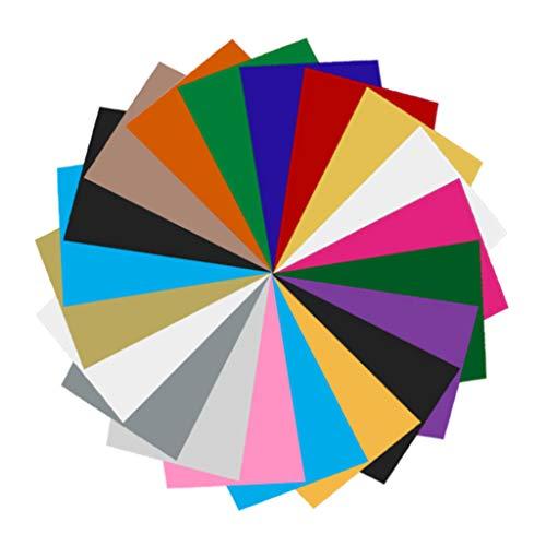 20 Stück Wärmeübertragung Vinyl Textilfolien Folie Vinylfolie Transferfolie/Textilfolie Transfer-Papier Transferpapier 30 x 40 cm Plotterfolie für T-Shirts, Hüte, Kleidung, Hitzepresse