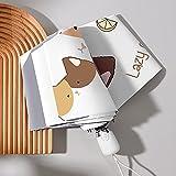 Enlylyog Sombrilla pequeña Completamente automática para el Sol, Lluvia y Sol, Parasol contra el Viento y protección UV Plegable para la Lluvia, de Doble Uso