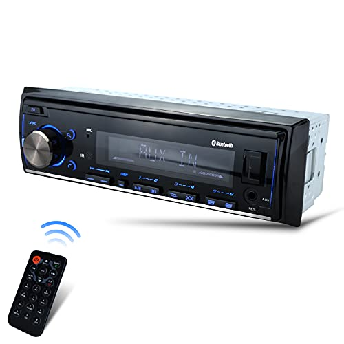 Zigtiger LCD Multimedia Car Stereo - Single Din Car Bluetooth Audio and Hands-Free Calling, Push to Talk Assistant, Built-in Microphone, MP3/USB, Aux-in, AM/FM Radio Receiver, Not a CD Player