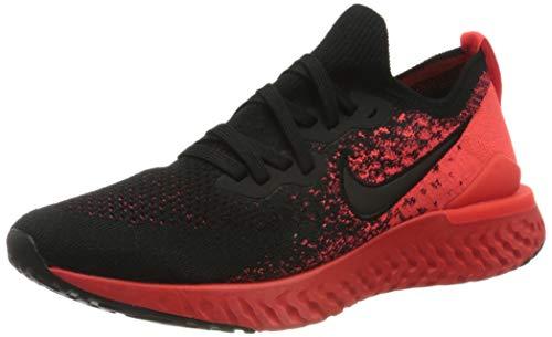 Nike Men's Epic React Flyknit 2 Trail Running Shoes, Multicolour (Black/Black/Bright Crimson/Infrared 8), 8 UK