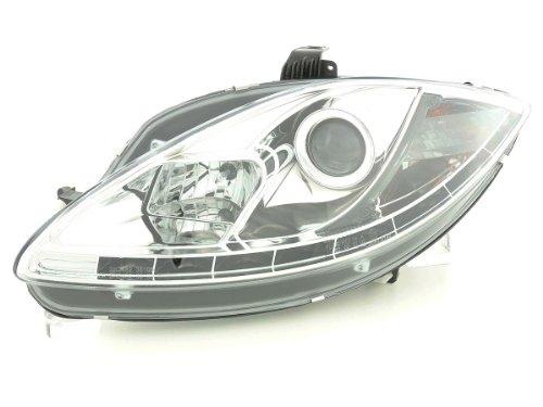 FK Automotive FKFSSE010017 daylight koplamp met dagrijverlichting geschikt voor Seat Leon (type 1P) / Altea/Toledo (type 5P) bj. 05- chroom