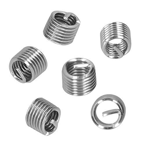 100 piezas de inserciones de rosca, tuerca reductora de roscas, tuerca reductora de roscas de alambre de acero profesional, hardware industrial para suministros industriales(1.5D)