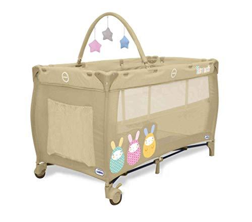 Lit pliant Baby Fox collection 'Baby Rabbits' avec arche - Beige