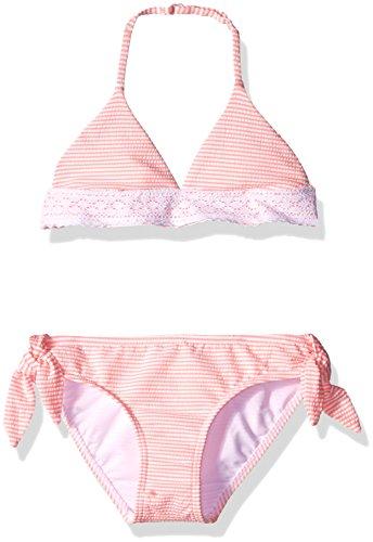 Seafolly Girls' Big Riviera Belle Tri Kini, Coral Pink, 14