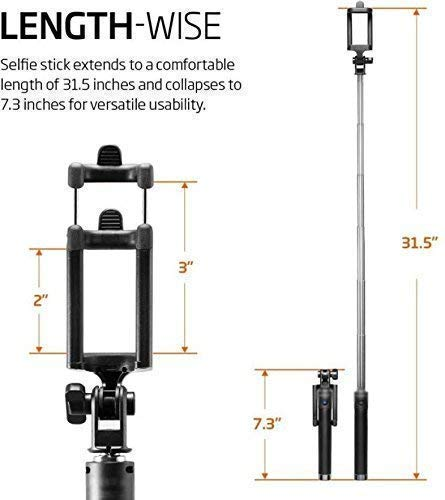 King Shine Compact Pocket Size Selfie Stick Wired for Android   Selfie Stick for Mobile Phones - Multicolor
