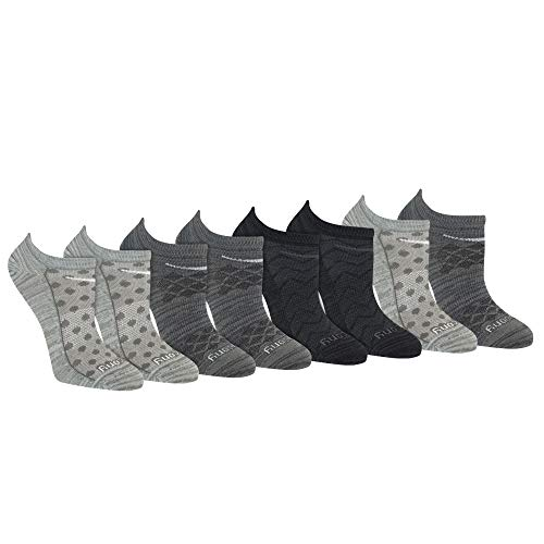 Saucony Women's Performance Super Lite No-Show Athletic Running Socks Multipack, Grey Fashion (8 Pairs), Shoe Size: 5-10