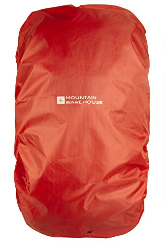 Mountain Warehouse Rucksack Rain Cover Medium 35-55L Backpack Protection, Shower Proof Bag Cover, Packed in a Bag, Ripstop fabric drawstring bag -For travelling, Walking Orange