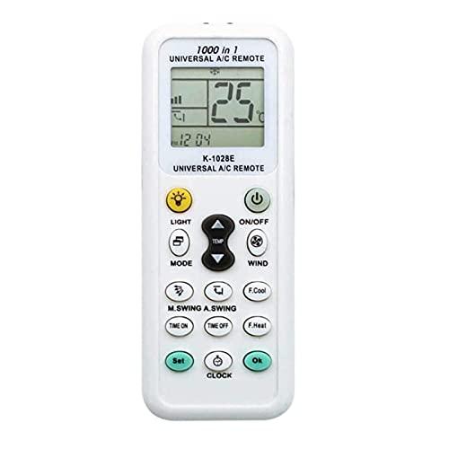 各社共通1000種対応エアコン用ユニバーサルマルチリモコン クーラーリモコン 自動検索機能も搭載LEDライト機能付き K-1028E エアコンリモコン