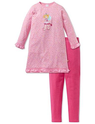Schiesser Mädchen Prinzessin Lillifee Md Anzug lang Zweiteiliger Schlafanzug, Rot (Rosa 503), 92