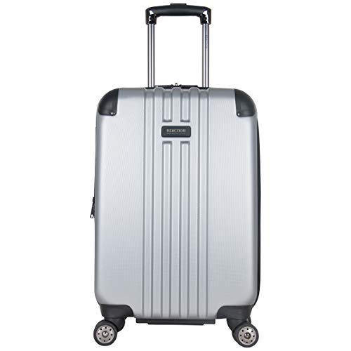 Kenneth Cole Reaction Reverb 20' Hardside Expandable 8-Wheel Spinner Carry-on Luggage, Light Silver