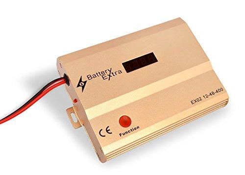 Batterie solaire d'entretien Appareil Conçu pour récupérer, recondition, maintenir, desulfate et Prolongez la durée de vie de batterie solaire Banks. Convient pour batterie Banques de 12 à 48 V jusqu'à 1500 Ah. Fournie avec une garantie de remboursement de 60 jours.