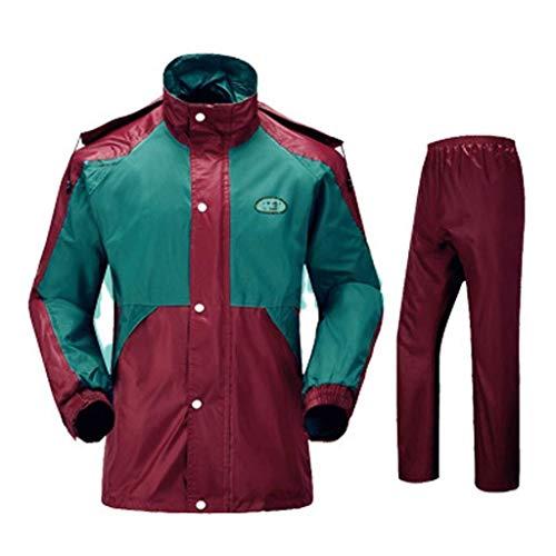 YDS Shop waterdicht pak voor volwassenen en heren (regenjas + broek), de nieuwste waterdichte technologieontwikkeling/licht outdoor-split-design, geschikt voor golfvissen, tourisme Medium A