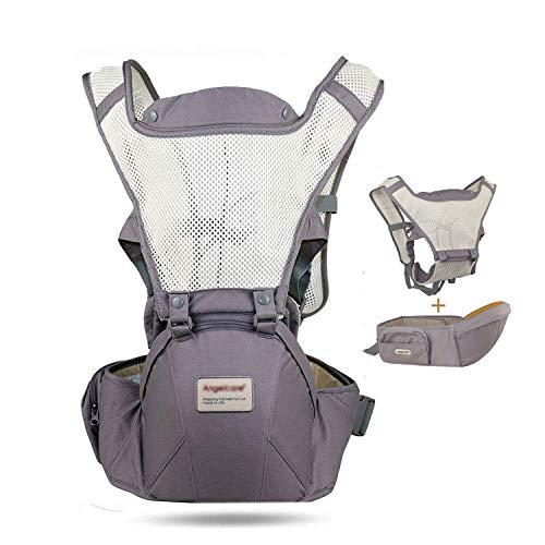 Baby Carrier with Hip Seat 6in1 Convertible Carrier 360 Ergonomic Baby Carrier Backpack Breathable Summer Baby Carrier with hipseat Baby Carriers Front and Back Toddler Baby Carrier