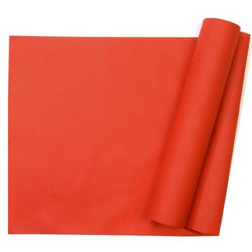 Chemin de table uni rouge jetable