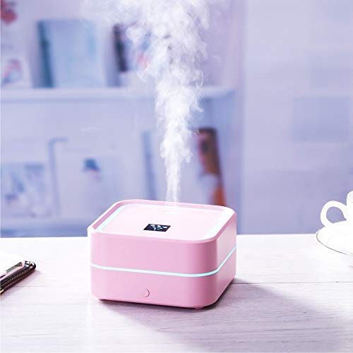 100ml Essential Oil Diffuser Aromatherapy Cool Mist Waterless Auto Shut-Off BPA-Free (Pink)