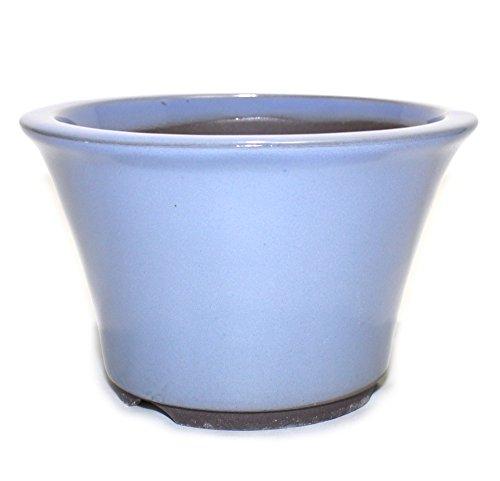 Bonsai Pot Ceramic Round Shape Glazed (5', Kinyo-Yu)