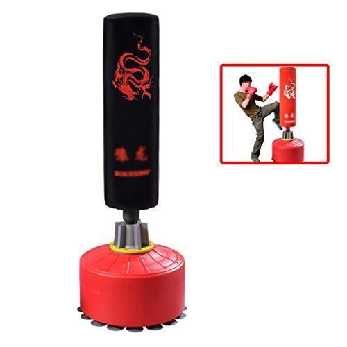 Boxen Standboxsäcke Sandsäcke Vertikale Sanda Sandsäcke Haushalt Sauger Becher Sandsäcke Erwachsene Kinder Taekwondo Fitness Sandsäcke Punchingbälle (Color : Black, Size : 55 * 55 * 170cm)