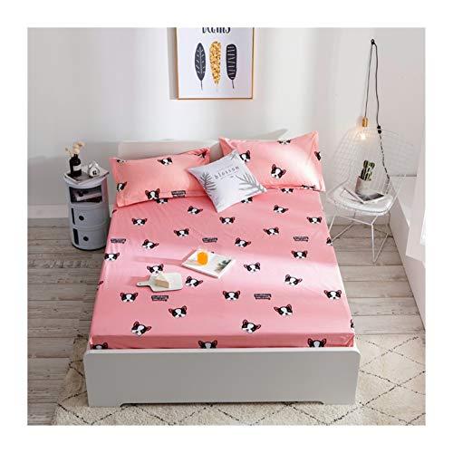 MOLUO Sábana Cubierta de colchón Impermeable Cubierta de Cama Impresa Cubierta Protectora Transpirable Suave colchón Cubierta Superior Cama Individual (Color : Color 5, Size : 180X200X30cm)