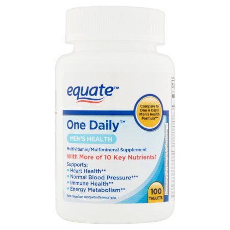 Equate One Daily Men's Multivitamin Multimineral Supplement, 100 Tablets