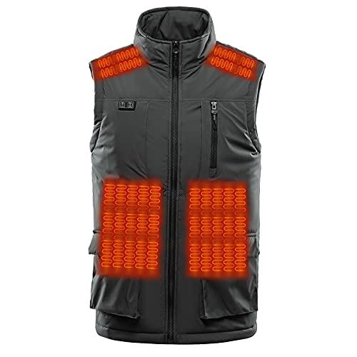 Winter - Chaleco calefactor para hombre, ligero, chaqueta calefactora USB eléctrica (no incluida)