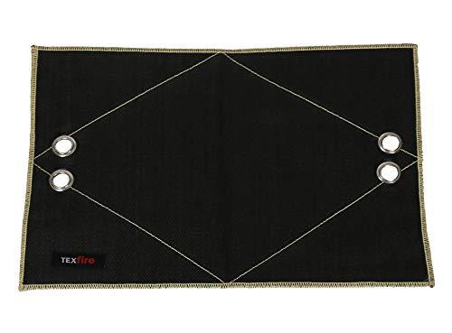 TEXFIRE - Manta de soldadura reforzada para fontanería, con sistema de sujeción, para soldadura con soplete o antorcha 1400ºC (35x25 cm)