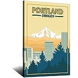 Vintage-Reise-Poster, Portland- oder Leinwand-Kunstdruck,