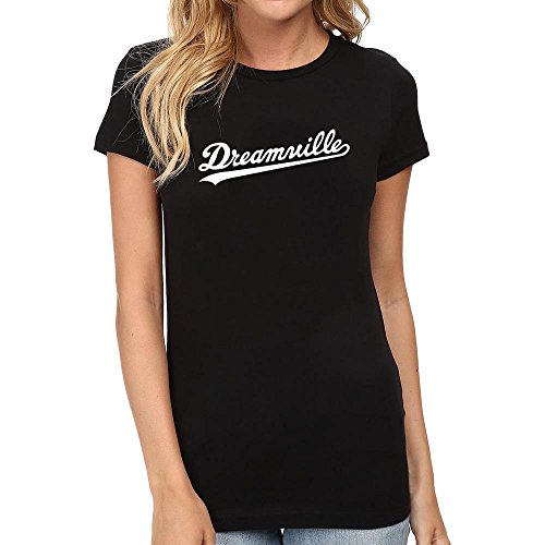 Loo Show Womens Dreamville Records Music Fans T-Shirts Women Tee Black