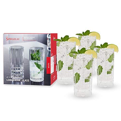 Spiegelau & Nachtmann, 4-teiliges Londrinkgläser-Set, Kristallglas, 350 ml, Perfect Serve, 4500179